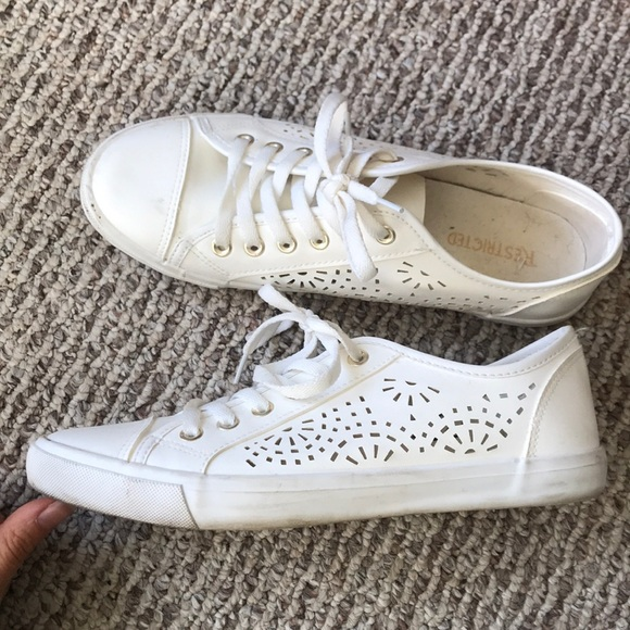 Restricted Shoes - White tennis shoes